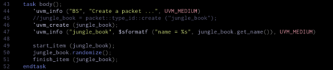 `uvm_create 'd name of an object