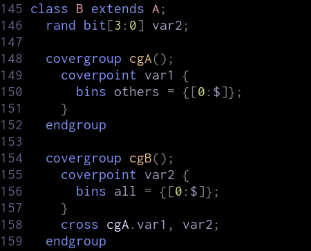 Inheritance of covergroups
